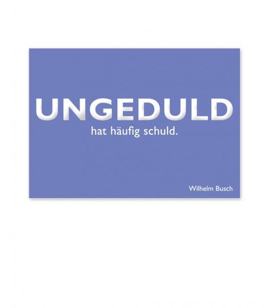 Postkarte Busch Ungeduld | CEDON