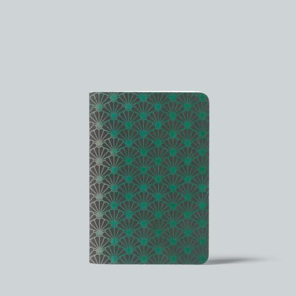 Cedon Heft A6 kariert Metallic Daisy green