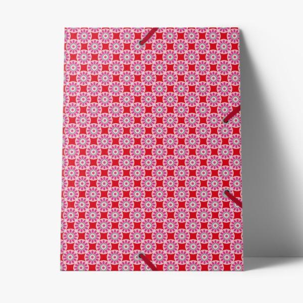 Sammelmappe de Luxe Kachel rosa-rot