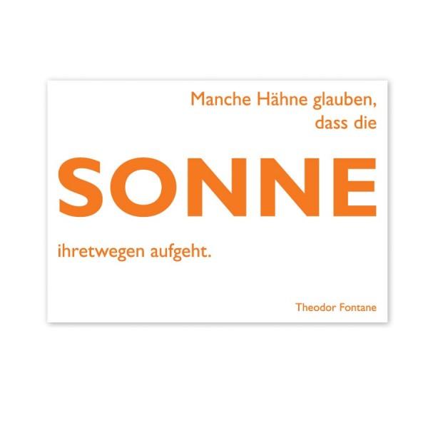 CEDON Postkarte Fontane Sonne