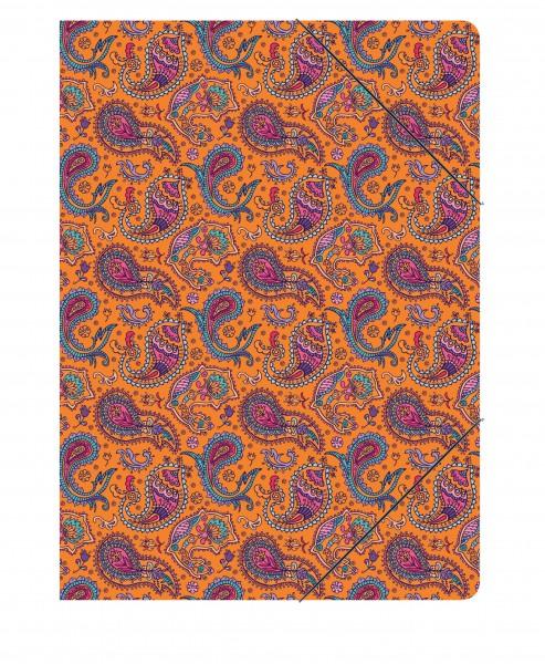 Sammelmappe Paisley orange | CEDON