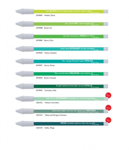 10er-Set Bleistifte Zitate grün | CEDON