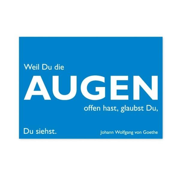 CEDON Postkarte Goethe Augen