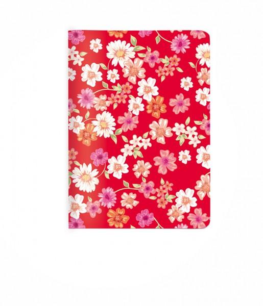 Heft Blüten rot DIN A6 | CEDON