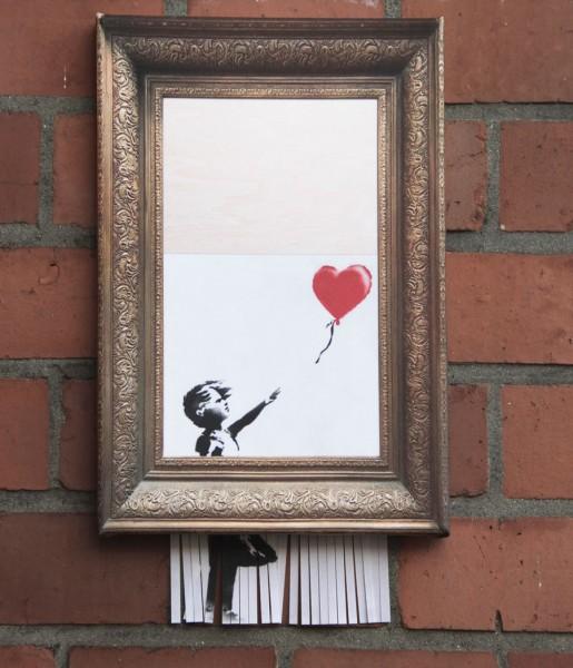 """Leinwanddruck """"Love is in the Bin"""" Banksy"""