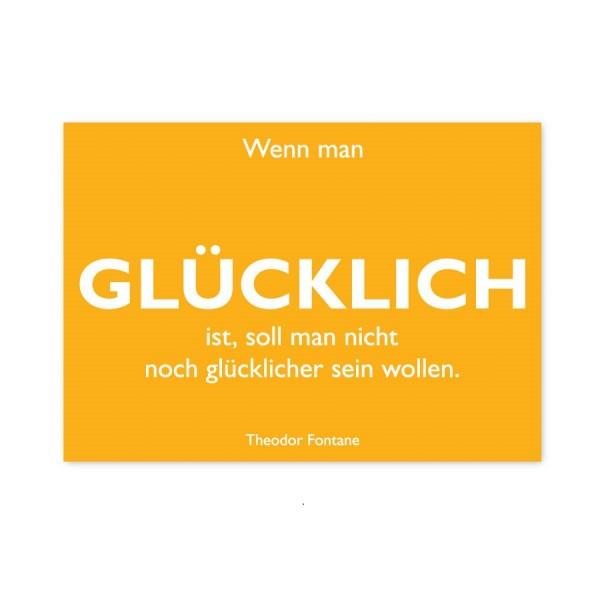 CEDON Postkarte Fontane Glücklich