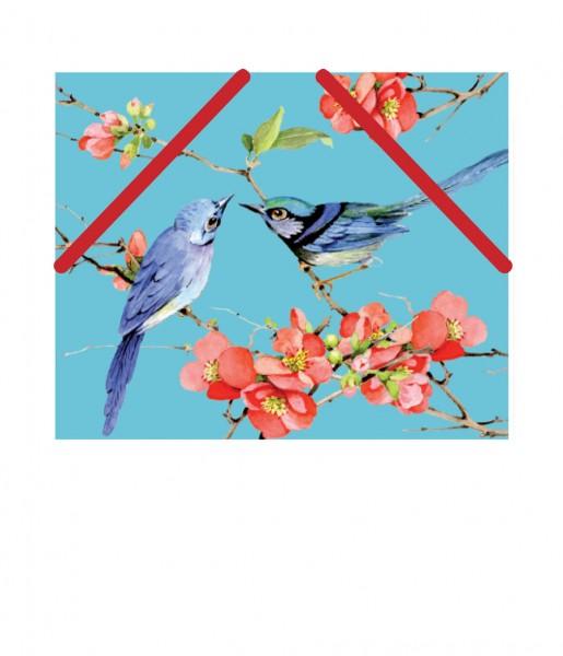 CEDON Mäppchen Vögel blau