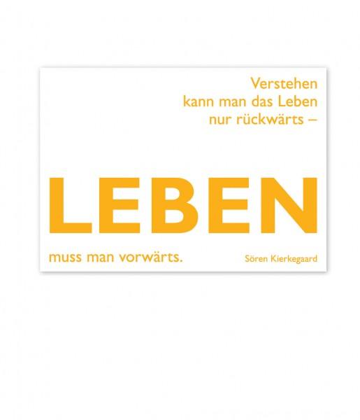Postkarte Kierkegaard Leben