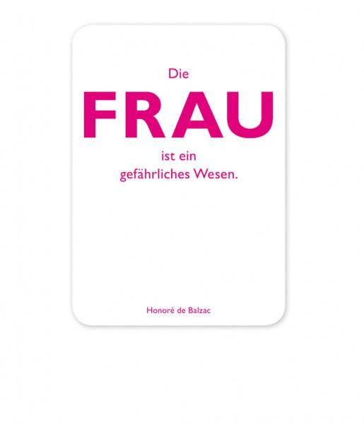 Postkarte Balzac Frau