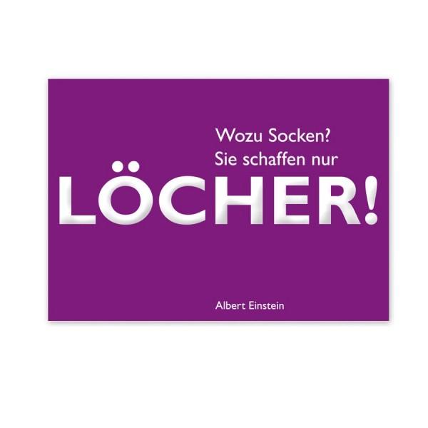 CEDON Postkarte Einstein Löcher