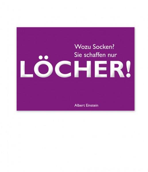 Postkarte Einstein Löcher