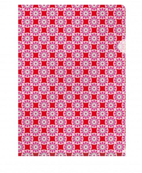 CEDON Dokumentenhülle Kachel rosa-rot
