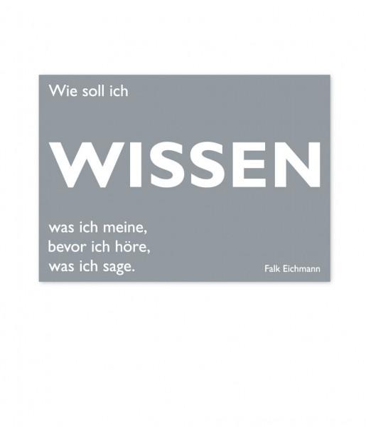 CEDON Postkarte Eichmann, Wissen
