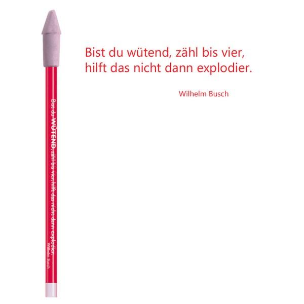 CEDON Bleistift rot - Wilhelm Busch Wütend