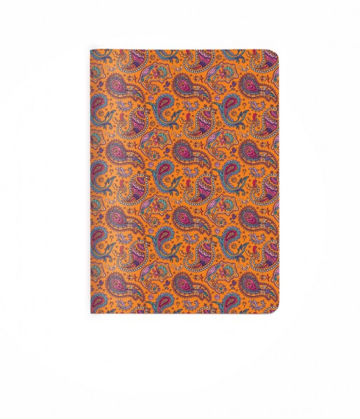Heft Paisley orange DIN A6