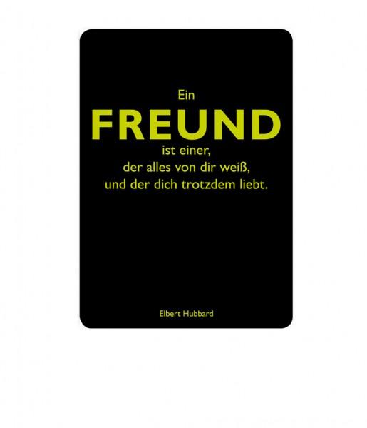 Postkarte Hubbard Freund | CEDON