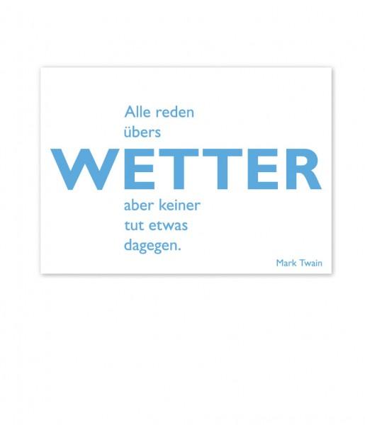 CEDON Postkarte Twain, Wetter
