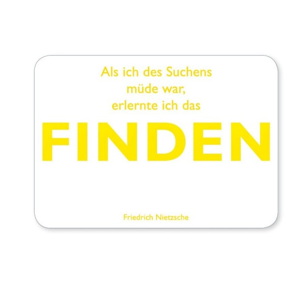 CEDON Postkarte Nietzsche Finden