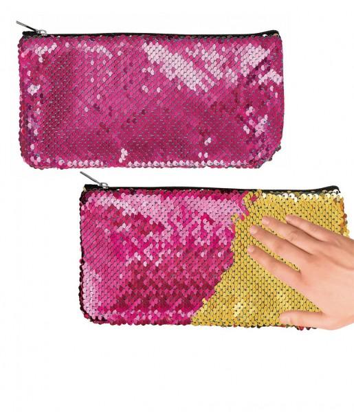 Federmäppchen Wendepailetten pink | moses