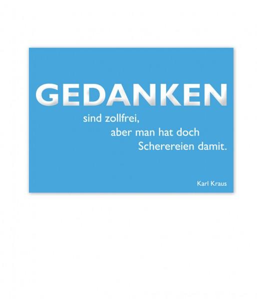 CEDON Postkarte Kraus, Gedanken