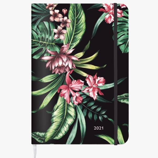 Kalender Tropical Black 2021