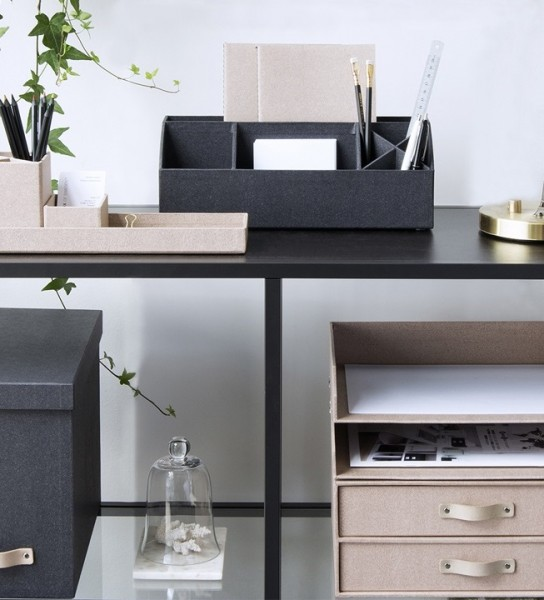 Schreibtischorganizer ELISA schwarz | Bigso