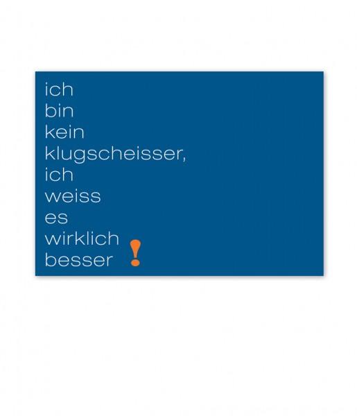 Postkarte Klugscheisser | CEDON