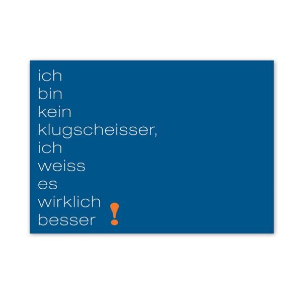 CEDON Postkarte Klugscheisser