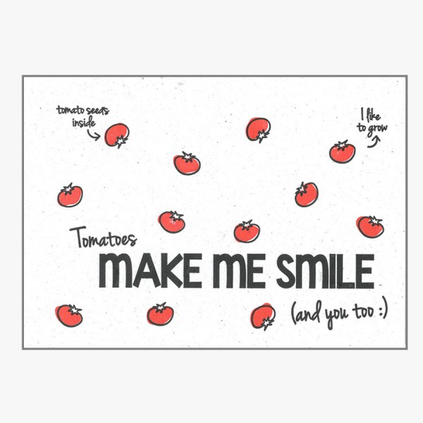 Grußkarte Make Me Smile