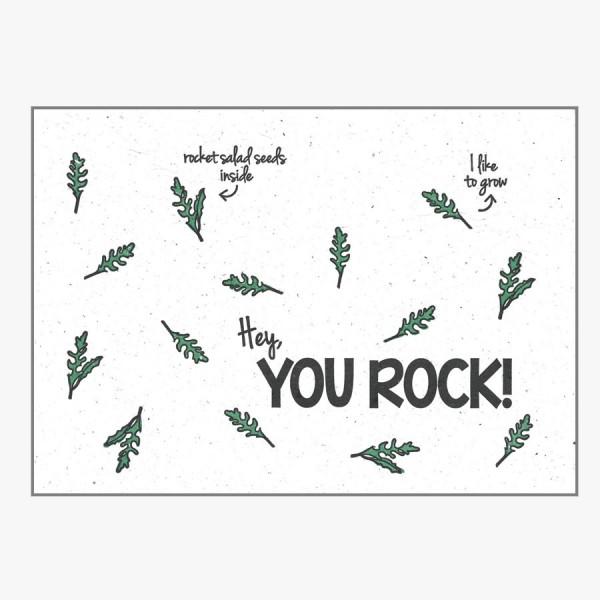 Grußkarte You Rock!