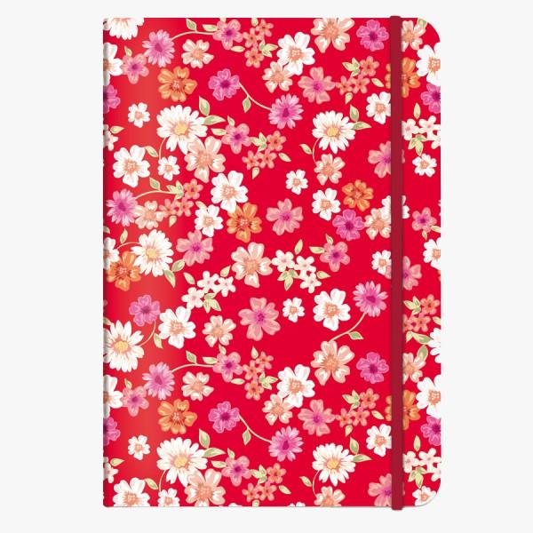 CEDON Notizbuch DIN A5 Blüten rot