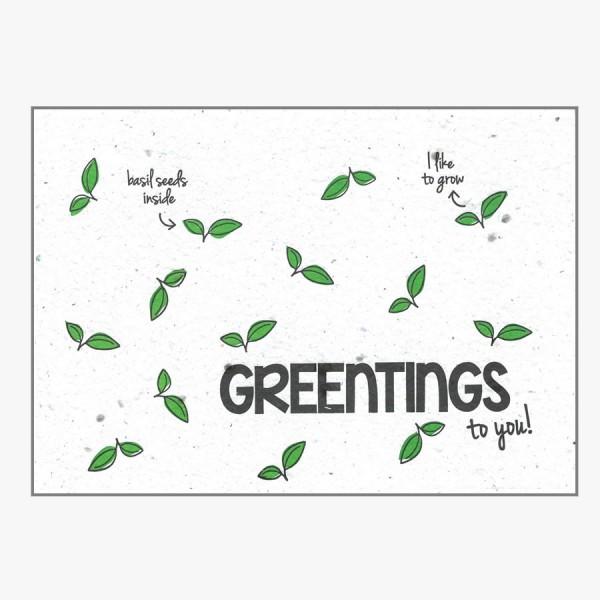 Grußkarte Greentings