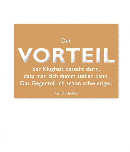 Postkarte Tucholsky Vorteil | CEDON
