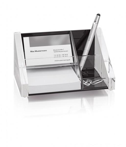 Stiftebecher mit Zettelbox ACRYL | WEDO
