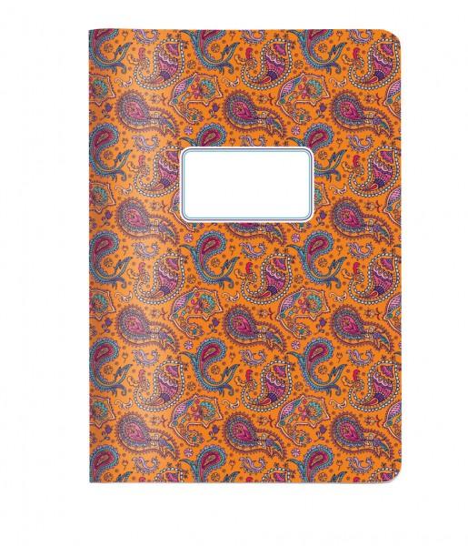 Heft Paisley orange DIN A5 | CEDON