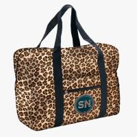 Easy Travel Bag Leoprint mit Initialen-Patch