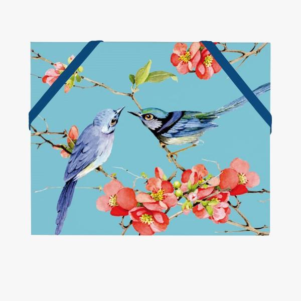 CEDON Mäppchen DIN A6 Vögel blau