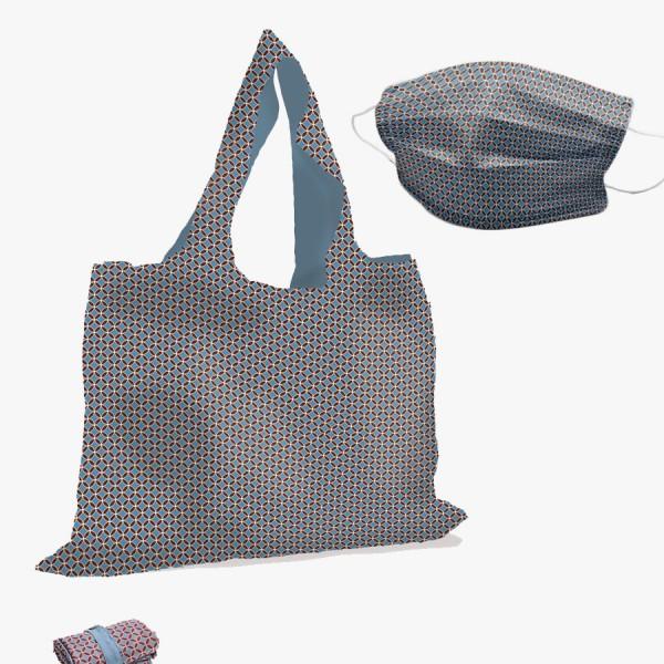 Taschenset Kachel bordeaux