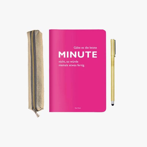Mini-Schreibset Minute gold