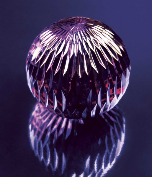 Briefbeschwerer Glass Sphere lila | &klevering