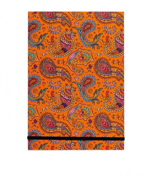 CEDON Schreibblock Paisley orange