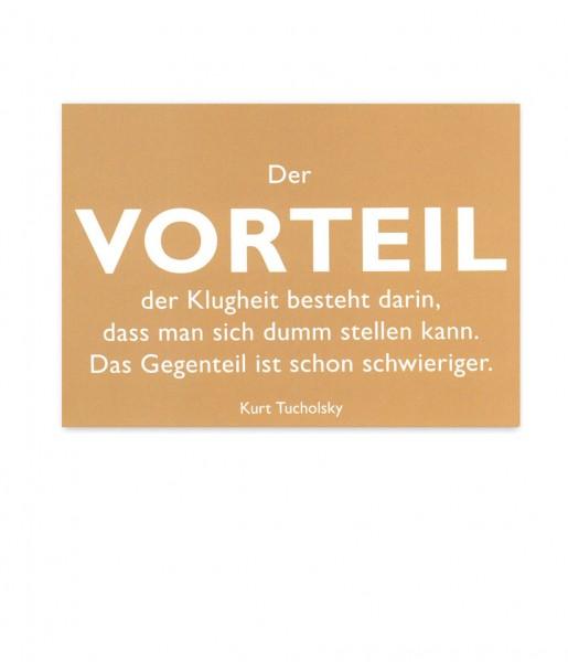 Postkarte Tucholsky Vorteil