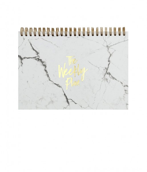 Wochenplaner Marble white | Real Passionates