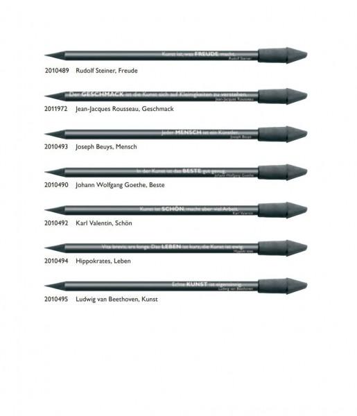7er-Bleistiftset schwarz