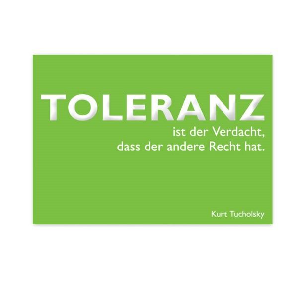 CEDON Postkarte Tucholsky Toleranz