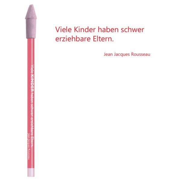 CEDON Bleistift rot - Jean Jacques Rousseau Kinder