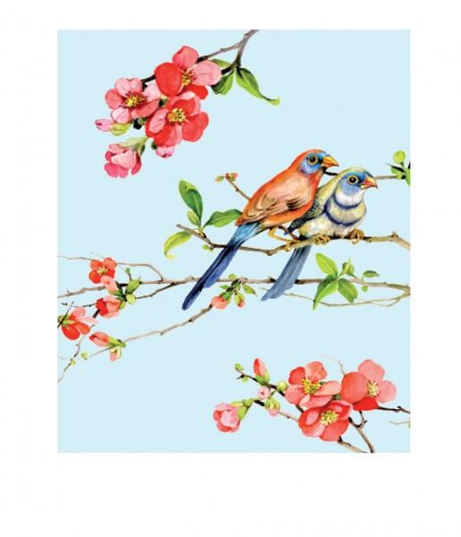 Microfasertuch Vögel blau | CEDON